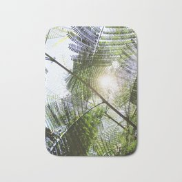 Big Light | Nature Leaves Forest Photo Bath Mat