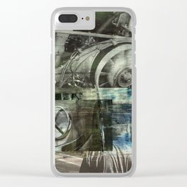 SRC Preparations Wall Art 911 Race Two Clear iPhone Case