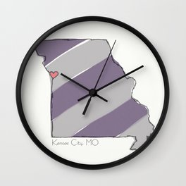 Home is Where the Heart Is: Kansas City, MO Wall Clock