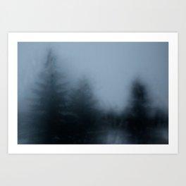 Blurry Art Print