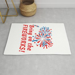 4th of July Bring On The Fireworks Rug
