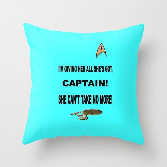 Scotty says Throw Pillow