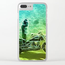 Abstract motorcycle fun Clear iPhone Case