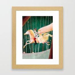 El Caballo de Oro Galopa Framed Art Print