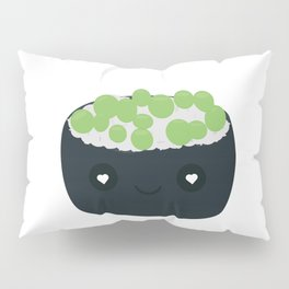 Sushi with green caviar Pillow Sham