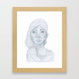 Lined Beauty Framed Art Print