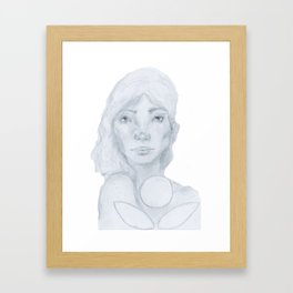 Lined Beauty Framed Art Print