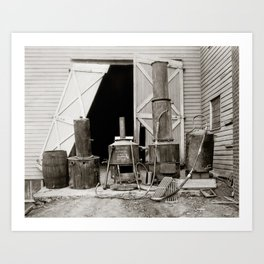 Moonshine Still Seized by Police, 1926. Vintage Photo Art Print