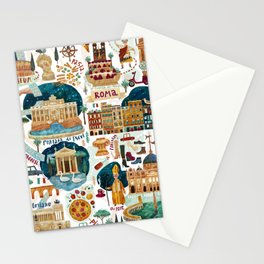 Rome map Stationery Cards
