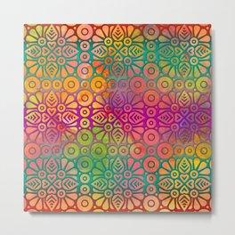 DP050-2 Colorful Moroccan pattern Metal Print