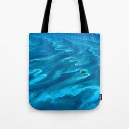 Dramatic Blue Ocean Waves Tote Bag