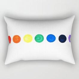 Chakras painted Rectangular Pillow
