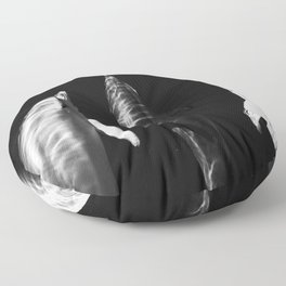Black and white dolphins Floor Pillow