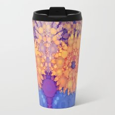 Vintage Flowers in the rain Travel Mug