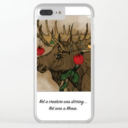 Not A Creature Was Stirring Clear iPhone Case