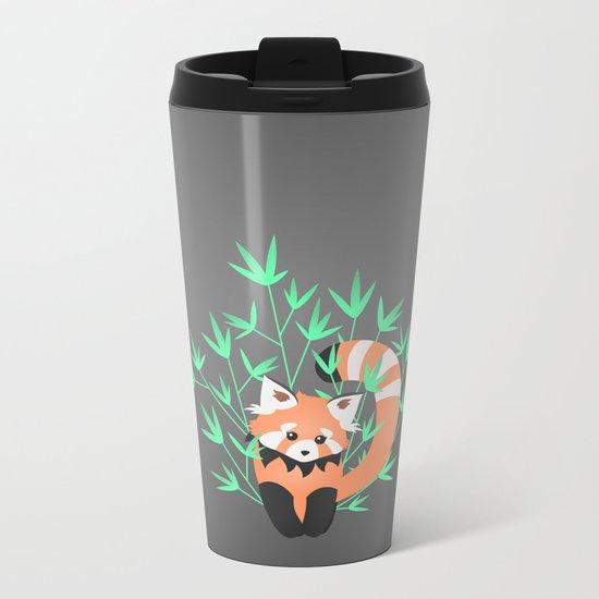 Baby Red Panda / Night Metal Travel Mug