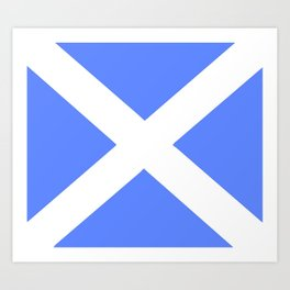 flag of scotland 5– scotland,scot,scottish,Glasgow,Edinburgh,Aberdeen,dundee,uk,cletic,celts,Gaelic Art Print