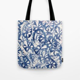 Organic Abstract in Blue Tote Bag