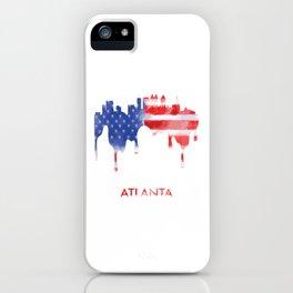 Atlanta Georgia American Flag Gift iPhone Case