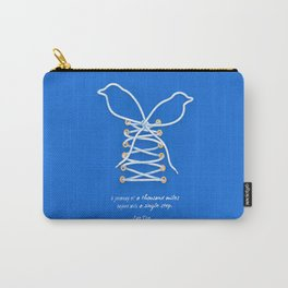 A Journey of A Thousand Miles Begins With A Single Step- Lao Tzu Quote Carry-All Pouch