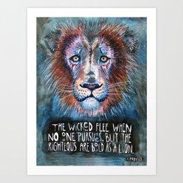 Bold as a Lion Art Print