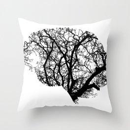 Brain Tree Throw Pillow