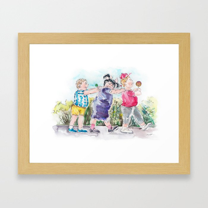 The Sweet Eaters - The Trio Framed Art Print