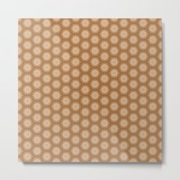 Brown star pattern illustration Metal Print