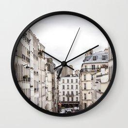 Montmartre View of Paris  Wall Clock