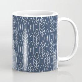 Leaves on Dark Denim Coffee Mug