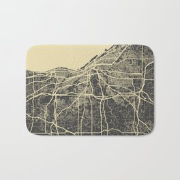 Cleveland map yellow Bath Mat