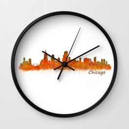 Chicago City Skyline Hq v2 Wall Clock