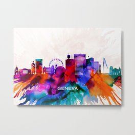Geneva Skyline Metal Print