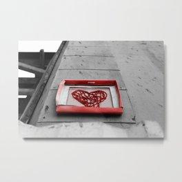 My Heart In a Box Metal Print