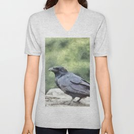 Crows Everywhere Are Equally Black Unisex V-Neck
