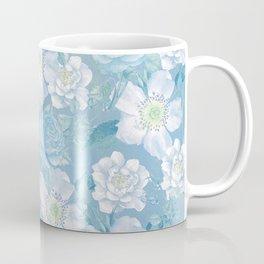 Blue Vintage Rose Pattern Coffee Mug