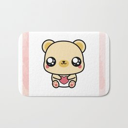BEAR-Y LOVABLE FRAMED Bath Mat