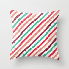 Striped. Throw Pillow