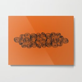 Tangerine Swirl Metal Print