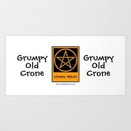 Grumpy Old Crone Pagan Wiccan Cup Mug Art Print