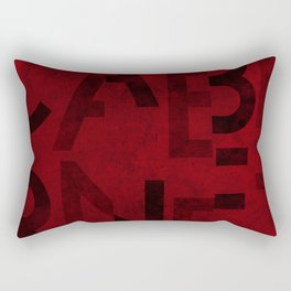 Cabernet Wine Typography Rectangular Pillow