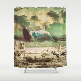 Bird in the sky  Shower Curtain