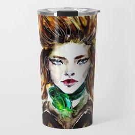 Green 2019. Fashion illustration Travel Mug