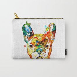 Colorful french bulldog Carry-All Pouch