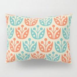 Mid Century Flower Pattern 2 Pillow Sham