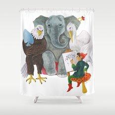 The Alphabet Series - Letter E - The Family Portrait Shower Curtain
