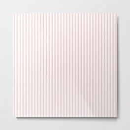 Pink Mellow Rose Mattress Ticking Narrow Striped Pattern - Fall Fashion 2018 Metal Print