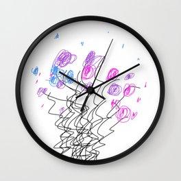 scrawls 2 Wall Clock