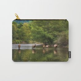 Elk in the River Carry-All Pouch