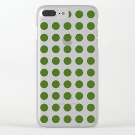 Simply Polka Dots in Jungle Green Clear iPhone Case